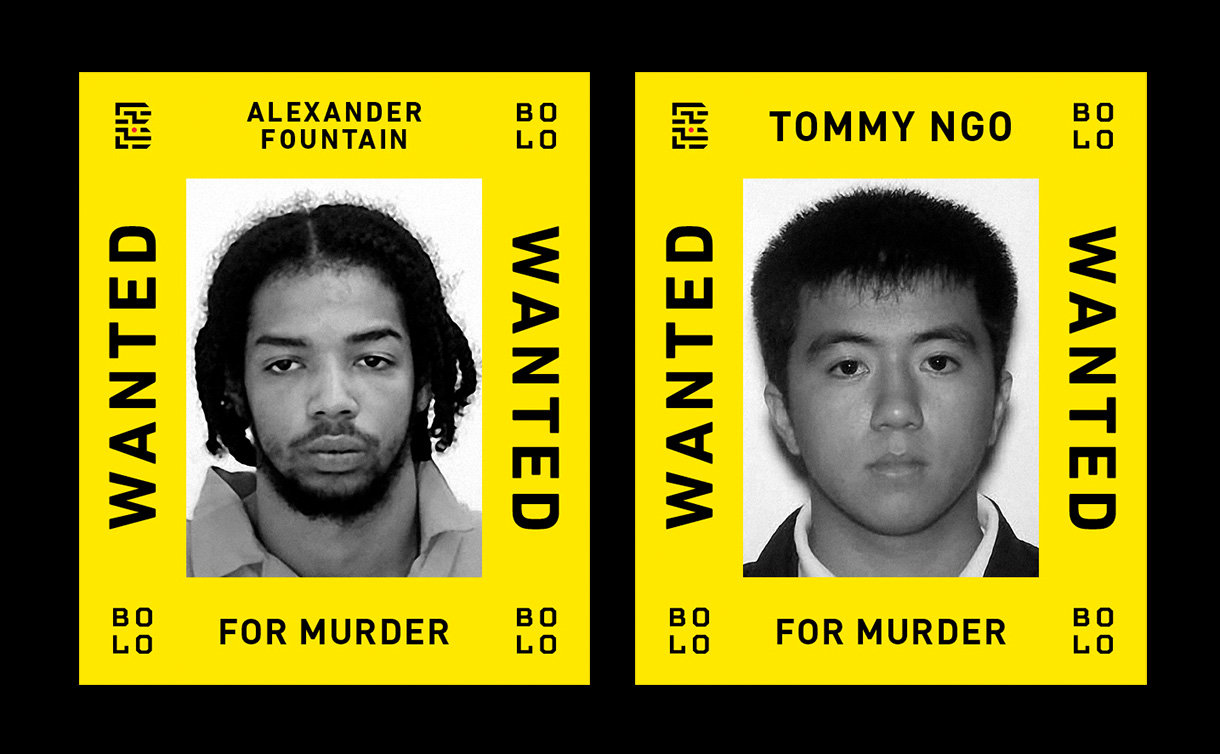 Two men in wanted posters