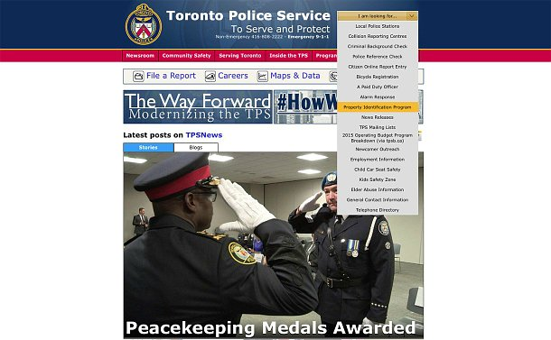 TPS website homepage