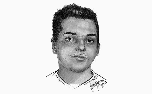 A close up sketch of a man