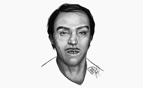 A sketch of a man's face