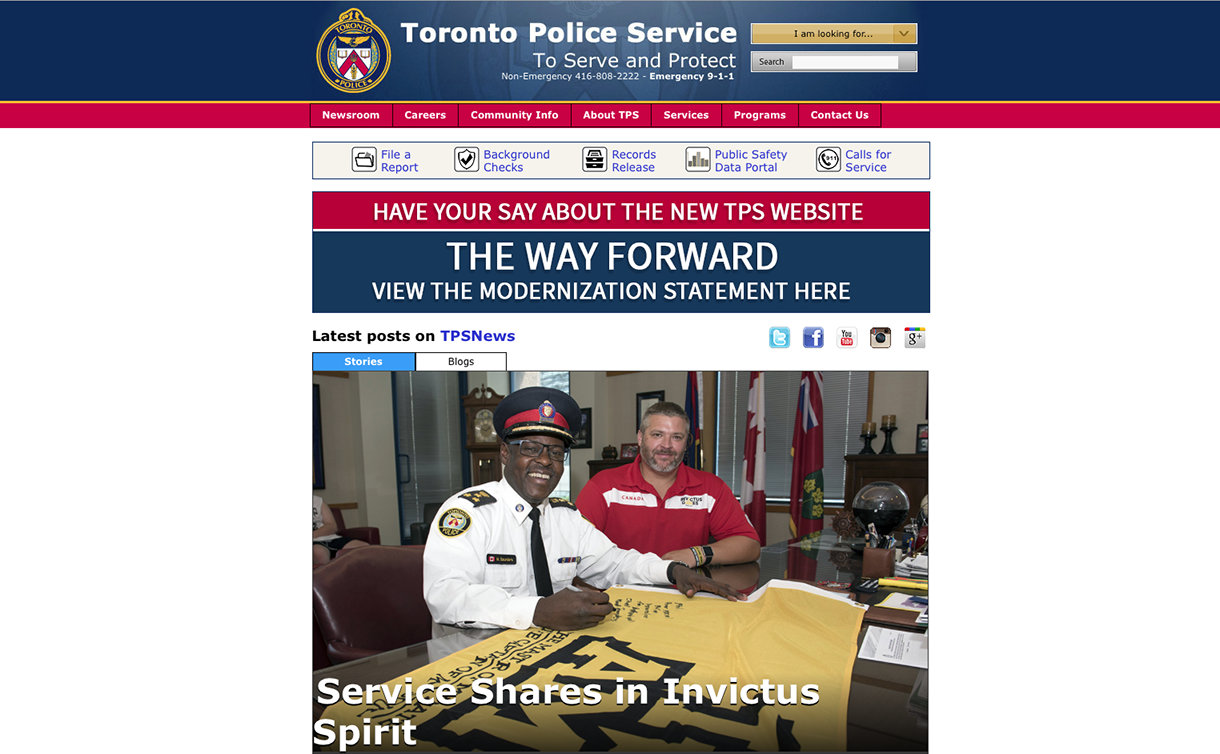 homepage of tps.on.ca