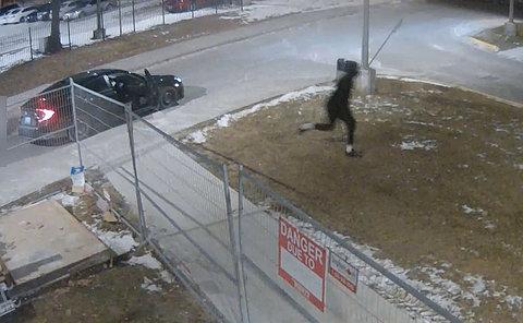 A man runs from a car