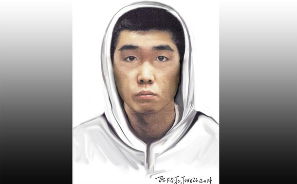 A head and shoulders sketch of a man in a hoodie