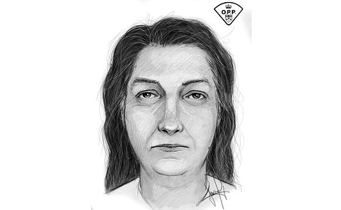 A sketch of a woman's face