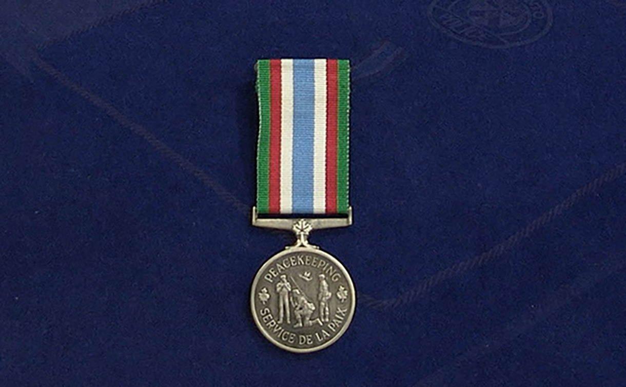 A medal on a ribbon