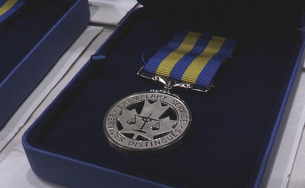 A medal in a box