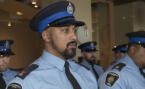 Men in TCH constable uniform