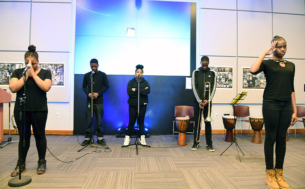 Group of students performing