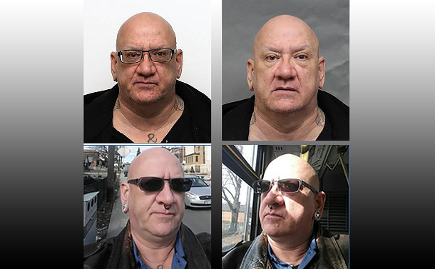 Four images of the same man