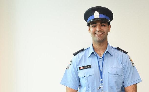 A man in TPS booker uniform