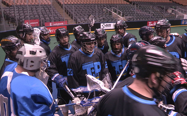 A group of lacrosse players