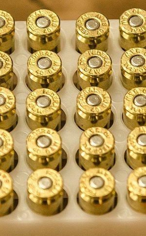 Bullets in a case
