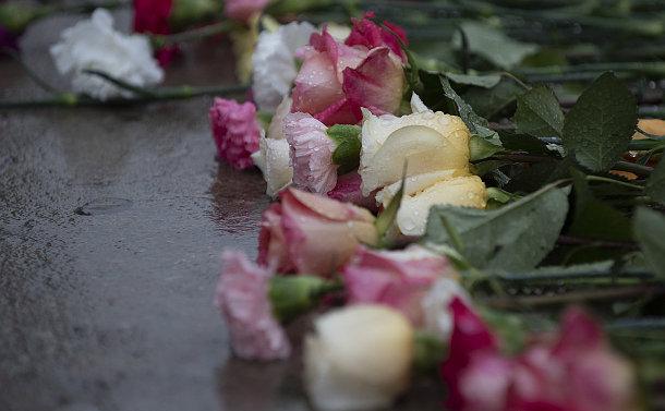 Flowers on a sidewalk
