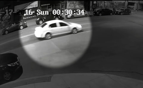 A car on a street