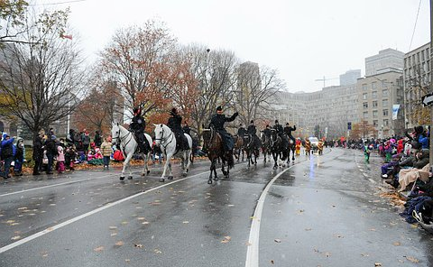 Officers on horseback