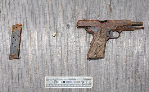 A gun and magazine