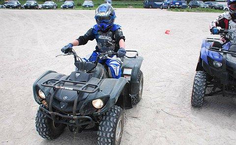 A boy on an ATV