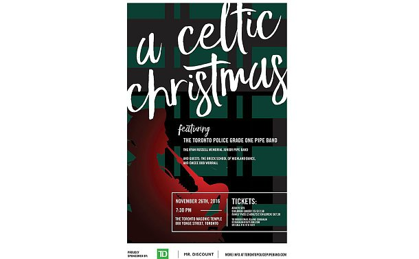 Invitation poster for celtic christmas