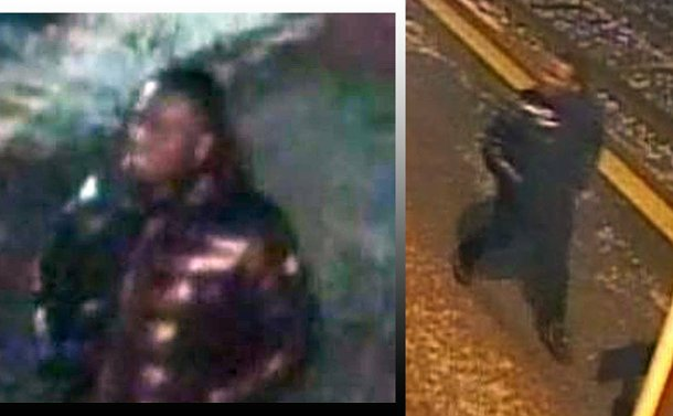 Two security images of a person