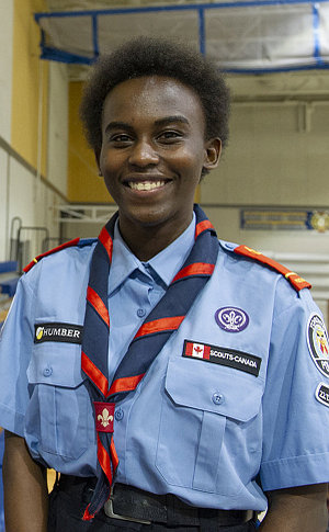A woman in TPS rover uniform