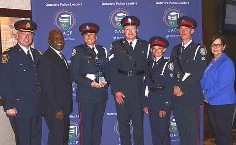 Men and women in police uniform