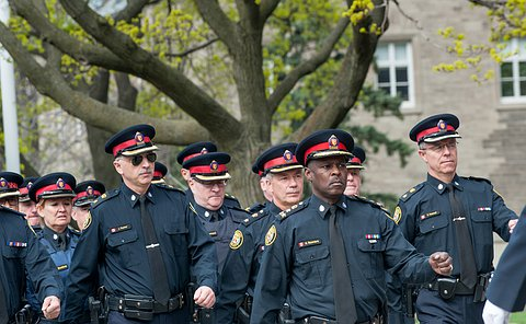 the chief leading men and women from the Toronto police service