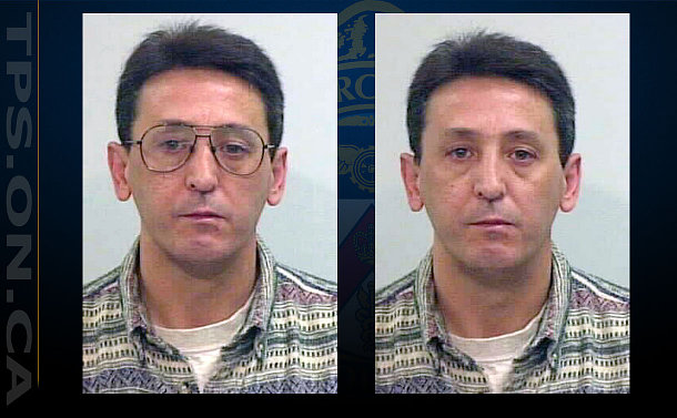 Two close up photos of same man, one with, and the other without glasses