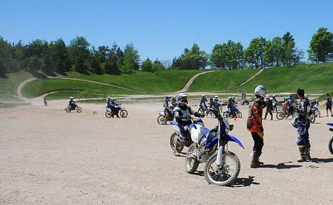 Youth with dirt bikes