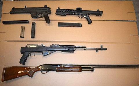A table of long guns
