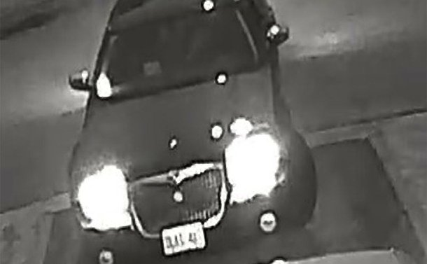 A pixelated image of a car