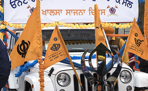 Picture of a float at the Khalsa Day Parade