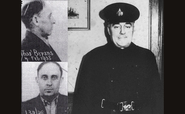 Two men in separate photos, one in police uniform