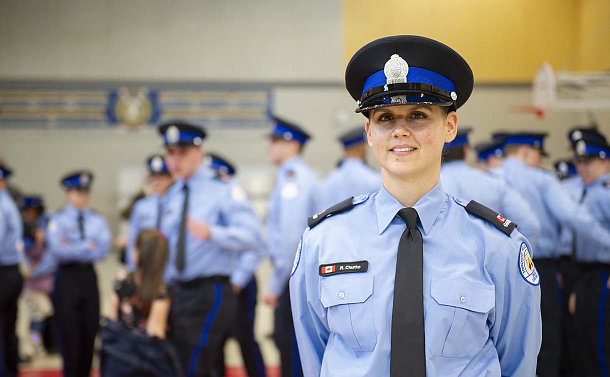 A woman in TPS special constable uniform
