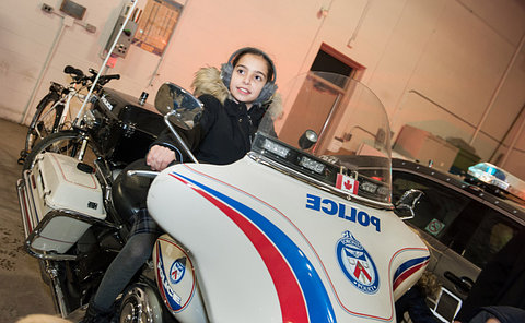 A girl on a TPS motorcycle