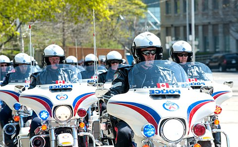 police men on police motorcycles