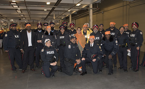 Group pictures of TPS officers
