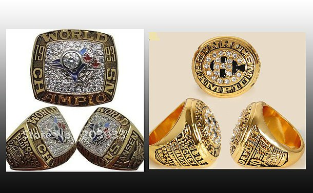 Two rings from three different angles