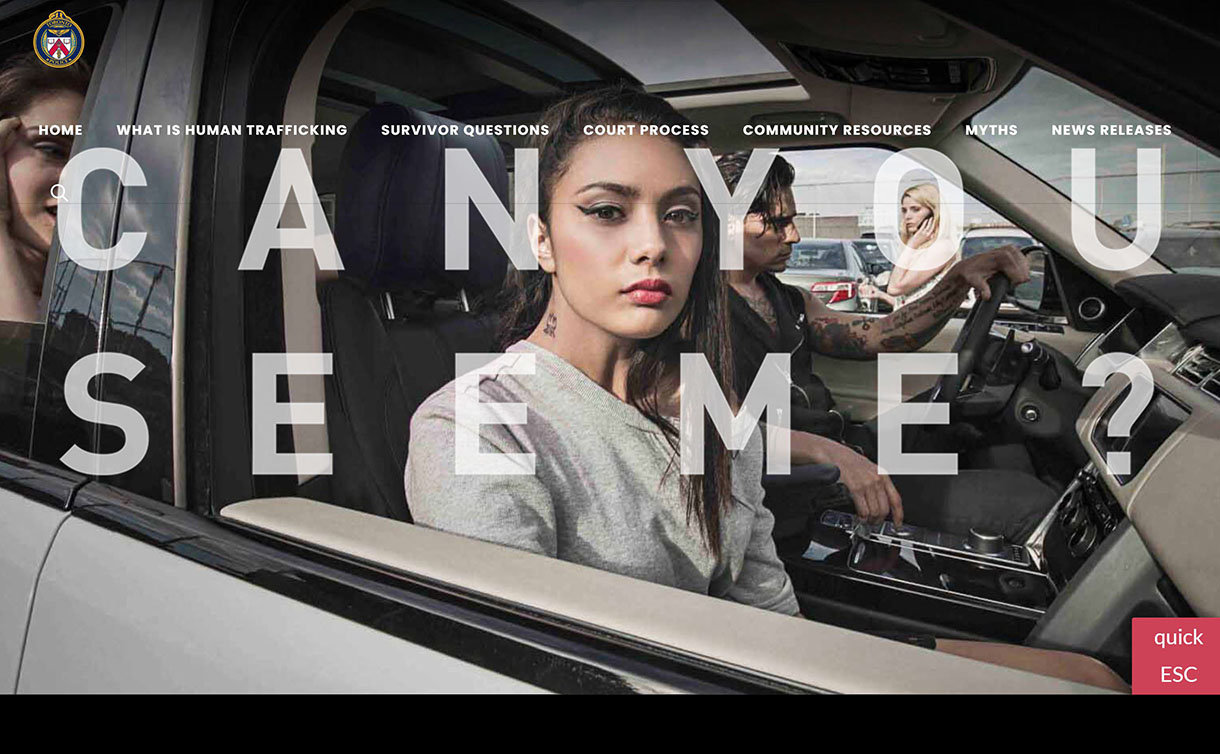 Image of htsurvivors website featuring women in a car