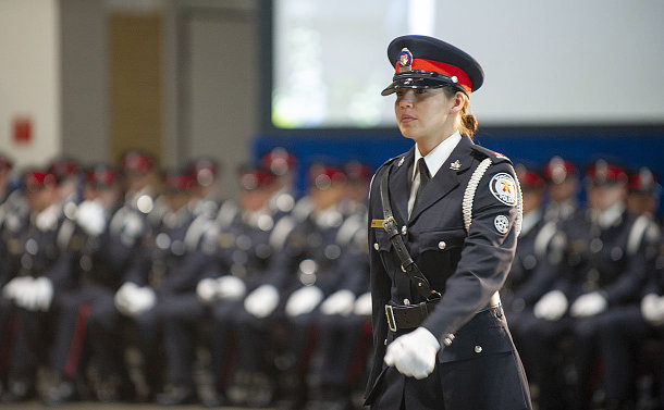 A woman in TPS uniform