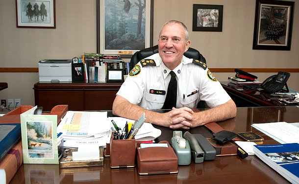 The Chief sitting at his desk