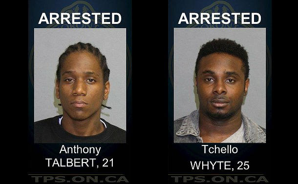 Photos of two suspects arrested by police