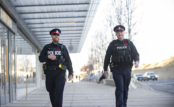 Two TPS officers wallking