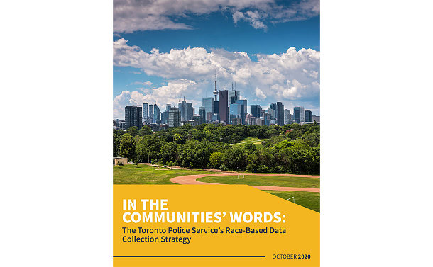 A report with skyline of Toronto