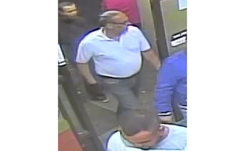 Security camera image of man wanted in diamond Fraud investigation